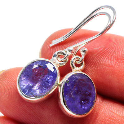 "Tanzanite 925 Sterling Silver Earrings 1 1/4"" Ana Co Jewelry E358730F"