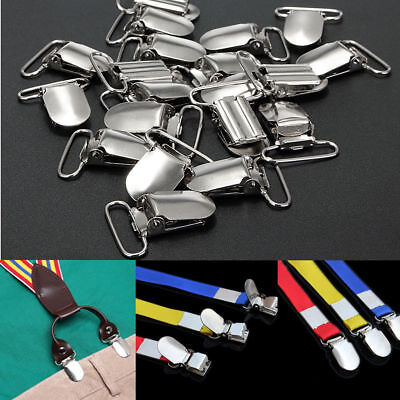 10 Pcs Suspender Metal Holder 36*20mm Insert Pacifier Heart Type Clips Craft Sew