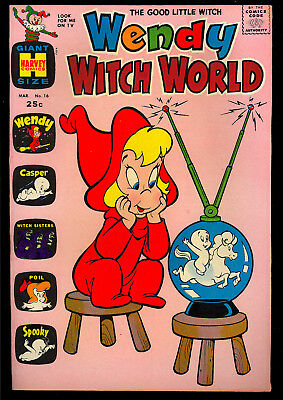 Wendy Witch World #16 High Grade Harvey File Copy Giant 1966 VF