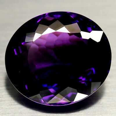 30.19 CT AAA! 20 X 21 mm. PURPLE CLR CHANGE TO PINK BRAZILIAN AMETHYST OVAL