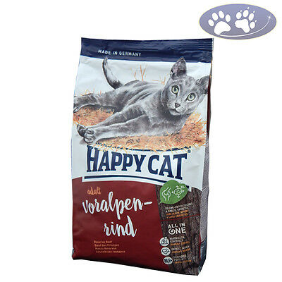10 kg Happy Cat Supreme Adult Fit & Well Voralpen Rind Katzenfutter trocken