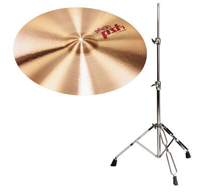 "TOP Paiste 18"" PST7 Crash Becken mit warmem Sound und stabilem Stativ 60-120cm"