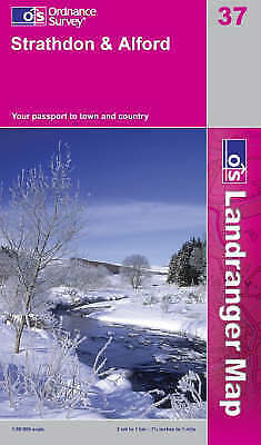 OS Landranger Map 37: Strathdon and Alford (9780319229934) NEW