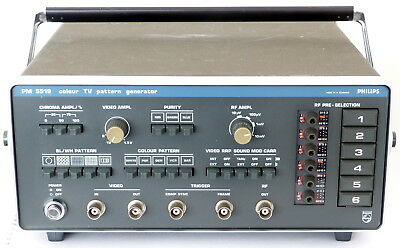 Philips PM5519 Colour TV Pattern Generator with Operating Manual