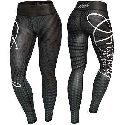 Anarchy Apparel Leggings, Raven, Compression Fitness Cross Fit Running Gym Hosen