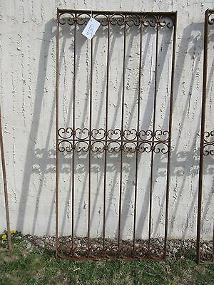 Antique Victorian Iron Gate Window Garden Fence Architectural Salvage Door #350