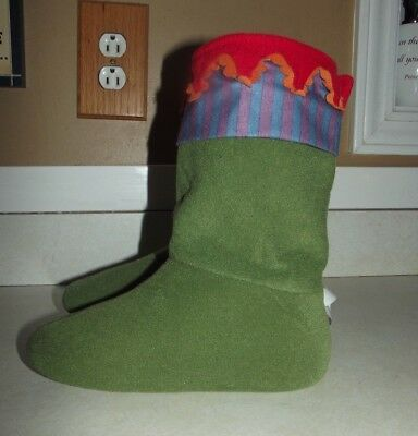 Toddler IKEA Elf Slippers Size 24 mths + - Green/Red