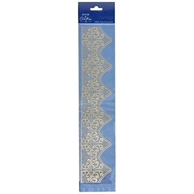 House of Cake Art Deco Edible Pearl Design Cake Lace (Pack of 6)