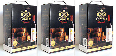 9L TORRES CORONAS TEMPRANILLO 2013 13,5% 3x3L Bag in Box *Sonderposten*