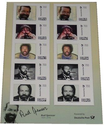 Bud Spencer Briefmarken 10 x 7 Euro Briefmarkenbogen Limited Edition