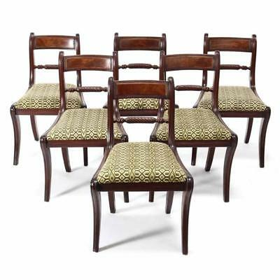 Set of Six Federal Mahogany Dining Chairs Lot 455