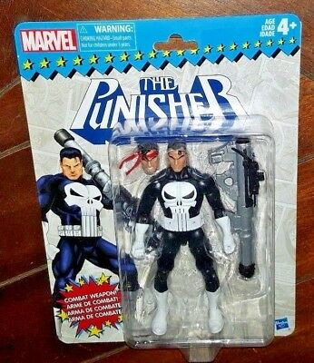 NIP Marvel THE PUNISHER Action Figure with Combat Weapon! Free Shipping!