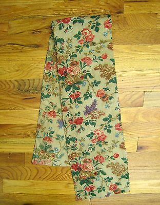 Antique Beautiful 19th C. French Floral Cotton Chintz Printed Fabric (2005)
