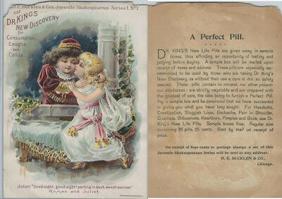 Victorian Card, 1890's, Dr. Kings, Children, Romeo & Juliet, Shakespeare