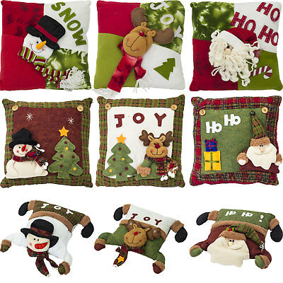 Cozy Comfy Festive Merry Christmas Cushion Sofa Settee Decoration Pre-Filled