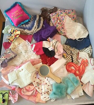 """Huge 39 Lot Of 15"""" & 18"""" Doll Clothes That Fit American Girl & Bitty Baby Dol"""