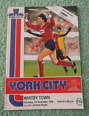 1985/86 York City v Whitby Town FA Cup