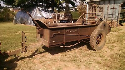 Rare 1951-52 John Deere Manure Spreader Lm-1 Series Works Great &great Condition