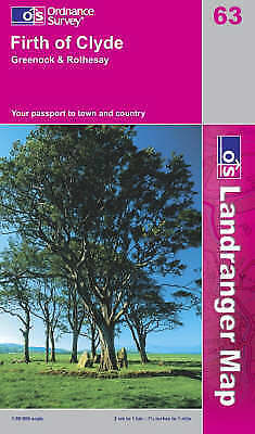OS Landranger Map 63: Firth of Clyde, Greenock and Rothesay (9780319229699) NEW