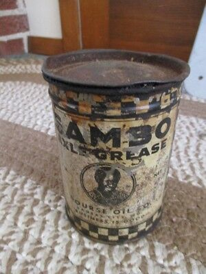"""RARE Old """"SAMBO"""" AXLE GREASE One Pound CAN....L@@K!"""
