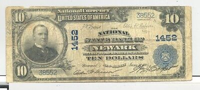 1902 $10 National Banknote from Newark, New Jersey no reserve