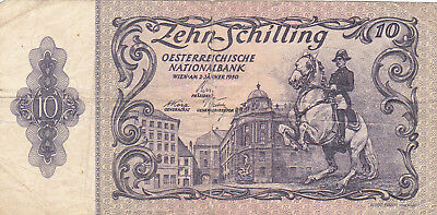 10 Schilling Vg Banknote From Austria 1950!pick-127