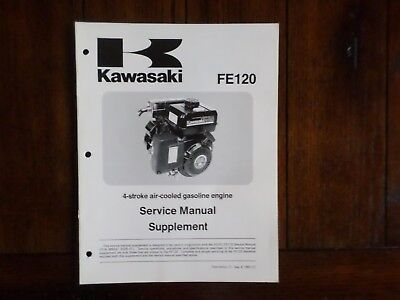 Kawasaki FE120 4 Stroke Air Cooled Gasoline Engine Service Manual Supplement