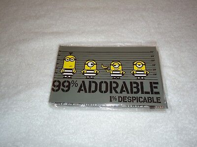 New Despicable Me Minions 99% Adorable 1% Despicable Sticky Note Set