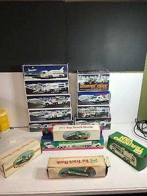 Lot of 14 Hess Vintage and Modern Trucks **ALL COMPLETE IN BOX*