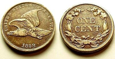 Xf/au 1858 Flying Eagle Cent Sl - Sharp Details With Eye Appeal!  No Reserve!