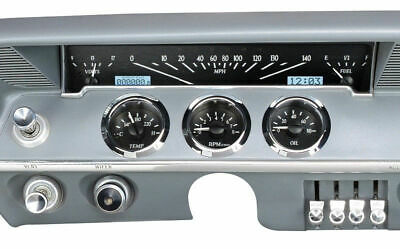 Dakota 61 62 Chevy Impala El Camino Analog Dash Gauges VHX-61C-IMP-K-W