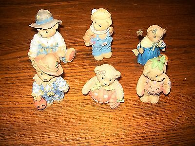 Lot of 6 Halloween Cherished Teddies Pumpkin, Fairy, Scarecrow, Halloween Outfit