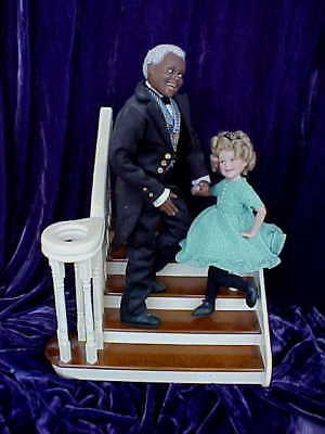 Danbury Mint Shirley Temple & Bojangles from the Little Colonel 2 Dolls & Stairs