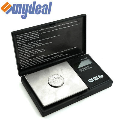 Digital Scale 1000g x 0.1g Jewelry Silver Coin Grain Gram Pocket Size Herb Us