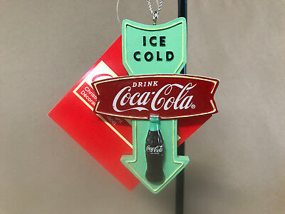 "Collectible Coca~Cola Ornament by Kurt S Adler, 3 1/2"" X 2 1/2"", NEW WITH TAGS!"