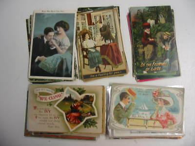 25 Older Romance Postcard Lot    87