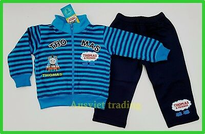 BNWT Thomas The Tank Engine boys Tracksuit Jacket kids sweater track suit pants