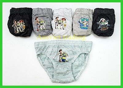 BNIP Toy Story Woody Buzz boys Undies Briefs jocks 6 pack cotton kids underwear