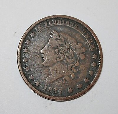 Antique 1837 Hard Times Token, May Tenth 1837, Specie Payments Suspended