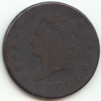 1808 Classic Head Large Cent, Problem Free G-VG