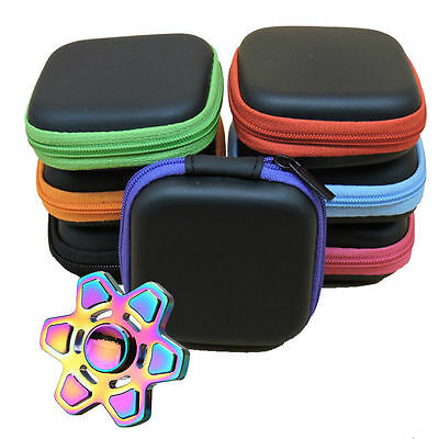 1PC  Fidget Hand Spinner Triangle Finger Toy Focus ADHD Autism Bag Box Case