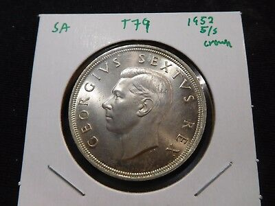 INV #T79 South Africa 1952 5 Shilling Crown