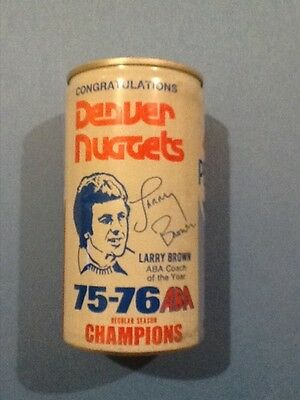 Denver Nuggets 75-76 Pepsi can featuring coach Larry Brown