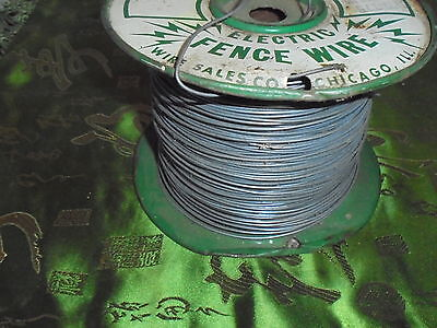 Vintage TufSteel Electric Fence Spool Wire Galvanized Chicago ILL Farm Cow Line