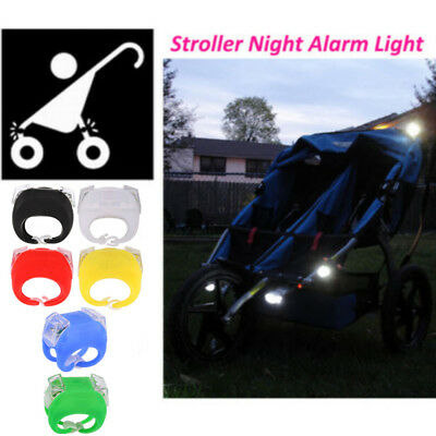 Night Silicone Caution Light Lamp Accessories For Baby Stroller Night Out Safety