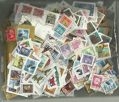 CHINA -  HONG KONG  ON PAPER  100 gms clsing down approx 400 + stamps