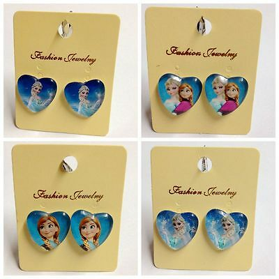 New Arrivals Kids Girls Child Frozen Disney Princess Clip-On Earrings Xmas Gift