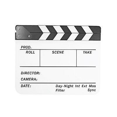 Neewer Acrylic Plastic 25x30cm Dry Erase Film Clapboard with White/Black Sticks