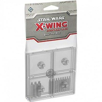 X-Wing Miniatures Game - Bases and Pegs Accessory Pack - Clear