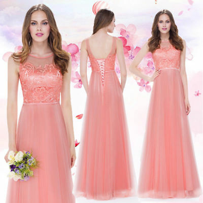 Ever-Pretty Formal Evening Prom Party Dress Bridesmaid Dress Ball Gown Peach